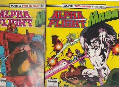 ALPHA FLIGHT  Nºs.   45.   46.     ( LOTE  2  NUMEROS)  FORUM...