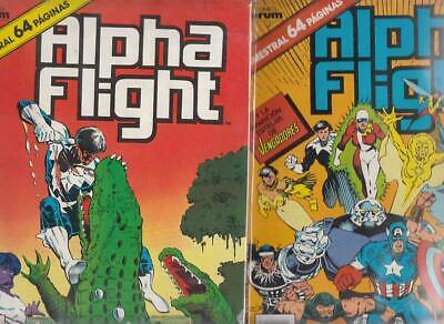 ALPHA FLIGHT  Nºs.   37.  38.    ( LOTE  2  NUMEROS)  FORUM...