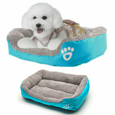 Soft Washable Dog Pet Warm Basket Bed Cushion with Comfy Fabric Soft Puppy Mat