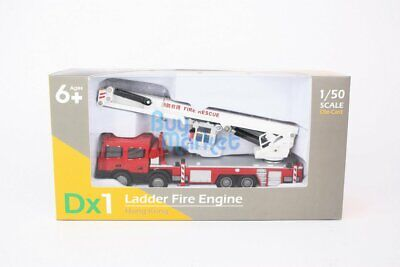 TINY Hong Kong Scale 1/50 Dx1 Ladder Fire Engine Diecast Red Toys Car Model