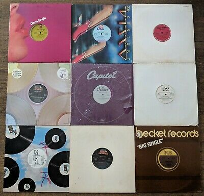 "Lot of 45 12"" Disco / Soul / Club Singles from 1976-83 Instant DJ Vinyl Records"