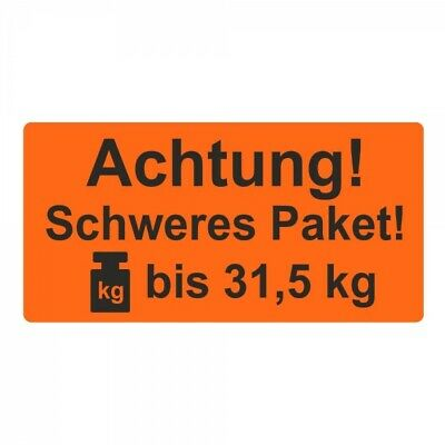 "Shipping Labels/Warning Label "" Attention! Heavy Package! to 31,5 kg "" 30 x 62"