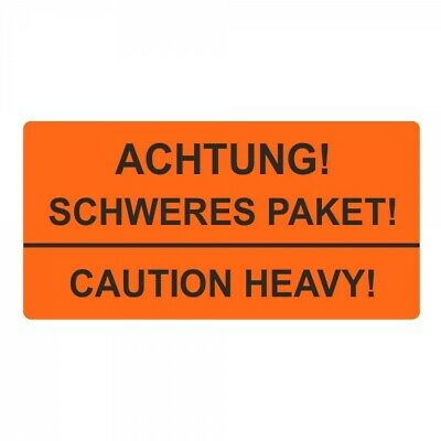 """Shipping Labels/Warning Label """" Attention! Heavy Package! Caution Heavy !"""" 30"""