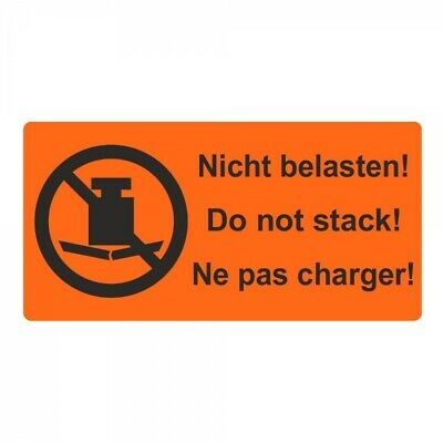 """Shipping Warning Label """" not Charge! Do not Stack !"""" 30 x 62 mm 1000 Piece"""