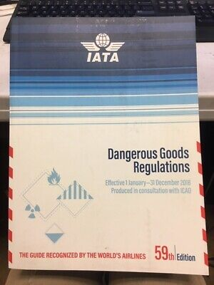 IATA Dangerous Goods Regulations 59th Edition 2018 version clean airlines guide