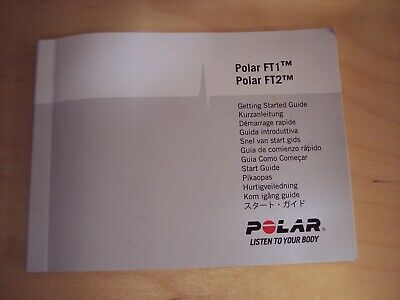 POLAR FT1 OR FT2 Getting Started Guide, manual only