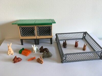 Playmobil Rabbit Cage, Run & Rabbits