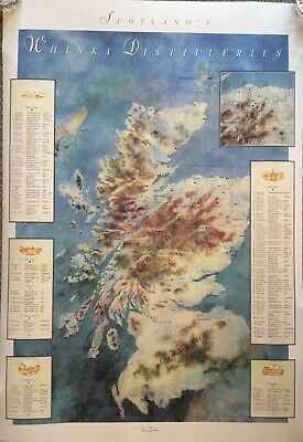 Scotch Whisky 1991 Map Of Distilleries Of Scotland.
