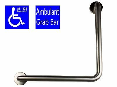 Safety Rail Ambulant Grab Bar Stainless Steel Disabled Toilet Handrail Angled