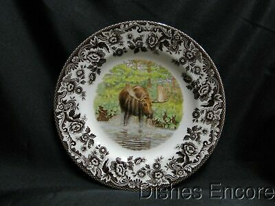 "Spode Woodland Majestic Moose, England: Salad Plate (s), 7 3/4"", NEW w/ Orig Box"