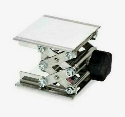 "Troemner 960055 Stainless Steel Lab Jack 4""x 4"" Base, Height 5"" Max, 30 lb. Cap"