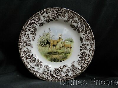 "Spode Woodland Mule Deer, England: Salad Plate (s), 7 3/4"", NEW w/ Orig Box"