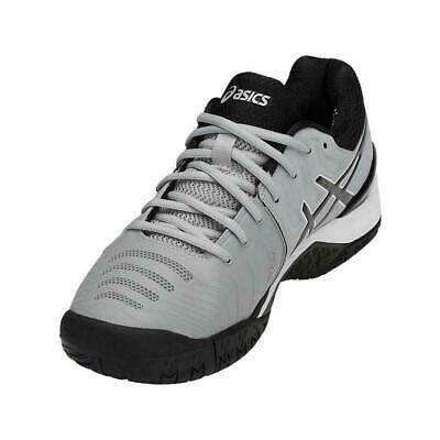 Asics Mens Tennis E701Y-9690 Gel-Resolution 7 Mid Grey / Black / White