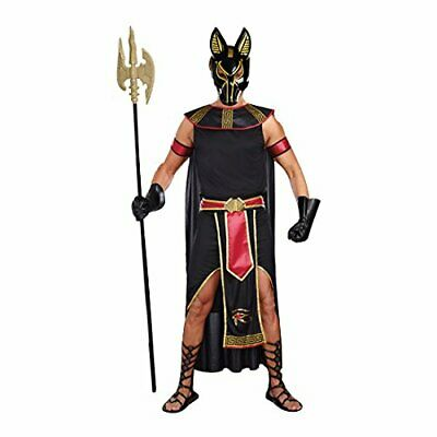 Anubis God Underworld Egyptian Dead Dog Fancy Dress Up Halloween Adult Costume