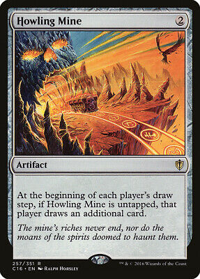 Howling Mine 4th Edition NM Artifact Rare MAGIC THE GATHERING CARD ABUGames