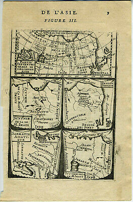 1683 Genuine Antique maps Ancient Asia, Ancienne Asie. A M Mallet