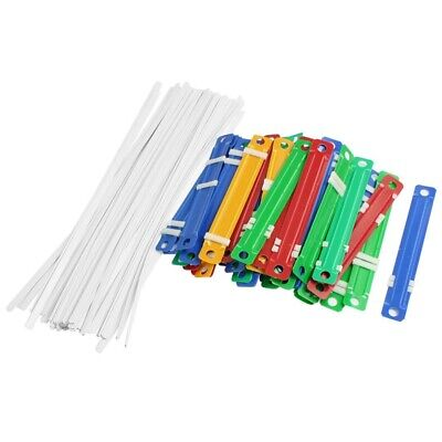 50 Pcs Office School Colorful Plastic Binding Two-Piece Document Paper Fasten H1