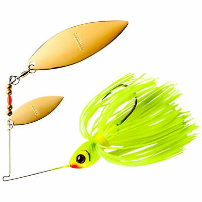 Lot 3 Booyah BYBT38635 Silver Shad 3//8 Ounce Tandem Spinnerbait Lure Fishing