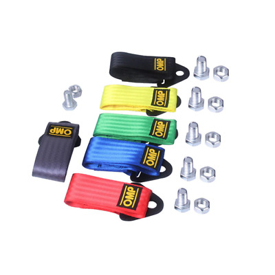 Tow Hook Rope Strap OMP Universal Track Use Racing Decorative JDM Modification