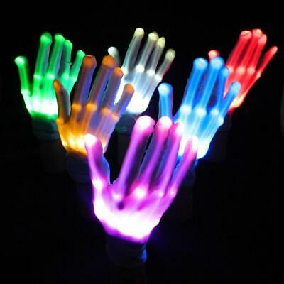 1 Pair LED Finger Flashing Gloves Light Up Halloween Xmas Dance Rave Party Funny
