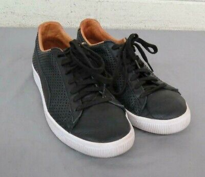 info for ff76f 66c42 PUMA CLYDE COLORBLOCK 2 Perforated Black Leather Sneakers US Men's 9 EU 42  GREAT