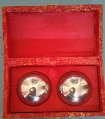 Two large metal balls Exercise fingers and palm. Downsizing sale. Good condition
