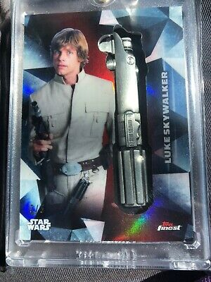 2018 Topps Finest Star Wars Luke Skywalker Mark Hamil Lightsaber  Medallion 3/5
