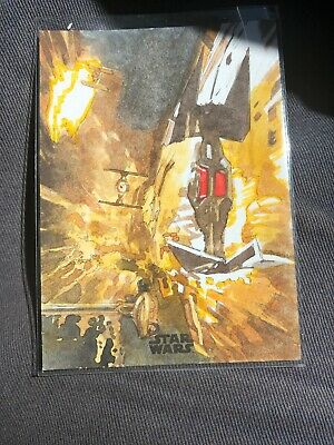 2018 Topps Finest Star Wars Sketch Card By Roy Cover