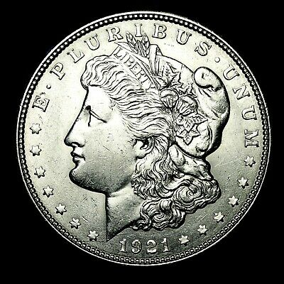 1921 D ~**ABOUT UNCIRCULATED AU**~ Silver Morgan Dollar Rare US Old Coin! #175