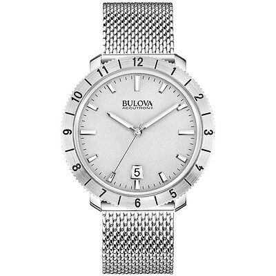 New Bulova Men's A11 Silver Steel Bracelet Watch 96B206