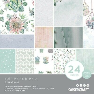 "Kaisercraft 'GREENHOUSE' 6.5"" Paper Pad Succulents/Floral KAISER PP1064"
