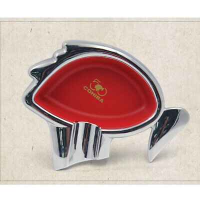 COHIBA Classic Design Metal Red Cigar Cigarette Ashtray 50th Anniversary