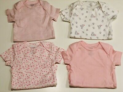 cf118ea4a New Carter's JOY 4 Baby Girl Shortsleeved Bodysuits Pink Owls Flowers, 6  Months