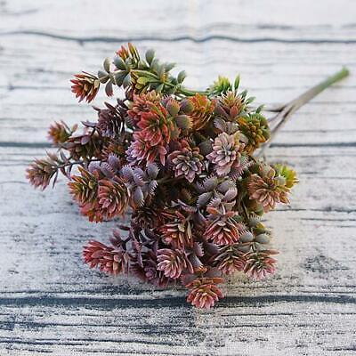 Artificial Succulent Leaf Greenery - ( Style 2 ) Burgundy