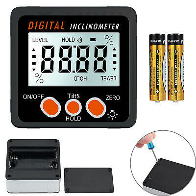 4*90° Digital Level Box LCD Angle Finder Meter Protractor Inclinometer Backlight