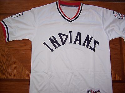 purchase cheap 7b772 a9ac3 1976 THROWBACK CLEVELAND Indians Jersey Size 48 XL sewn ...