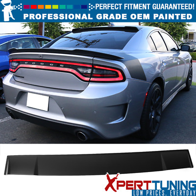 Fits 11-18 Dodge Charger Ikon Style Rear Roof Spoiler - OEM Painted Color