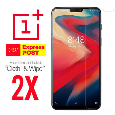 2X Tempered Glass Screen Protector Cover Guard Film for OnePlus 5 5T 6 6T