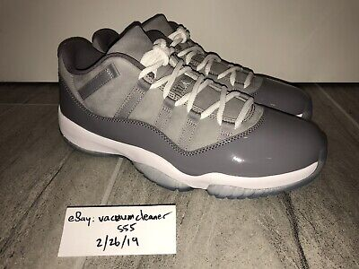 ab5d20678d7d Nike Air Jordan 11 XI Low Cool Grey Size 10.5 New DS concord space jam bred