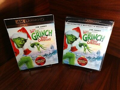 Dr. Seuss' How the Grinch Stole Christmas (4K Ultra HD/Blu-ray+Digital)Slipcover