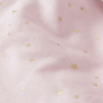 ADAIRS KIDS Twinkle Pink w/gold stars COT (Jnr Bed) QUILT COVER SET BNIP linen
