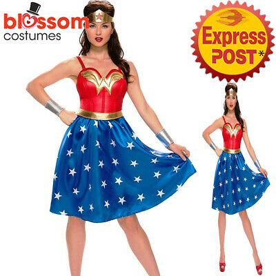 Wonder Woman Hero Superhero Halloween Cosplay Comic Fancy Dress Up Costume