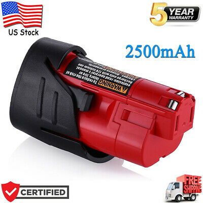 For Milwaukee M12 12V Lithium-Ion 2.5 Ah Compact Battery 48-11-2420 48-11-2401