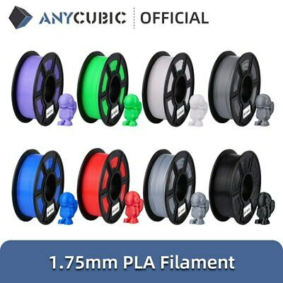 EU ANYCUBIC 1.75mm PLA Filament 1kg(2.2 lbs) For FDM 3D Printer Material Spool