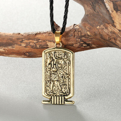 Anubis Pendant Necklace Ancient Egypt Religious Jewelry Egyptian Men Necklace