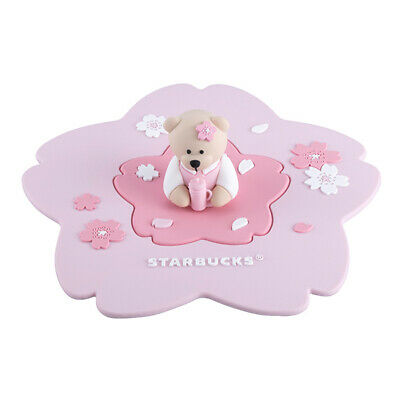 Limited Taiwan Starbucks 2019 Sakura Cherry Blossom Bear Silicone Cup Cover