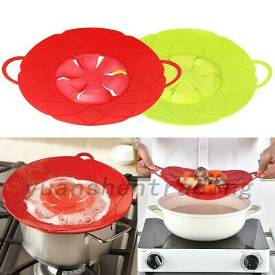 Silicone Anti-overflow Handy-Lid Spill Stopper Pot Cover Kitchen Cooking Gadgets