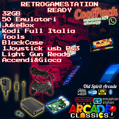 Console Retrogame  Retropie Raspberry Pi 3 B  + Micro Sd 32 Gb / Joypad Wireless