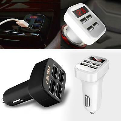 Portable 4 USB Chargers DC12V to 5V Car Chargers For IPhone 7 6S/ Galaxy KML8