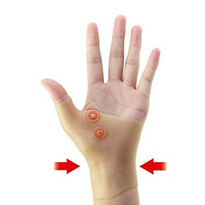 2Pcs Silicone Magnetic Therapy Gel Wrist Glove Support Hand Pain Ease Healthcare